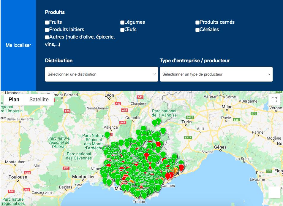 , Une nouvelle carte interactive pour découvrir les producteurs de la région, Made in Marseille, Made in Marseille