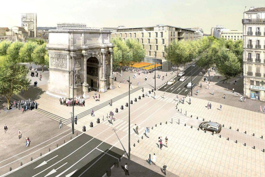 Jules Guesde, Euromeditérranée transforme la Porte d'Aix et sa sortie de métro, Made in Marseille