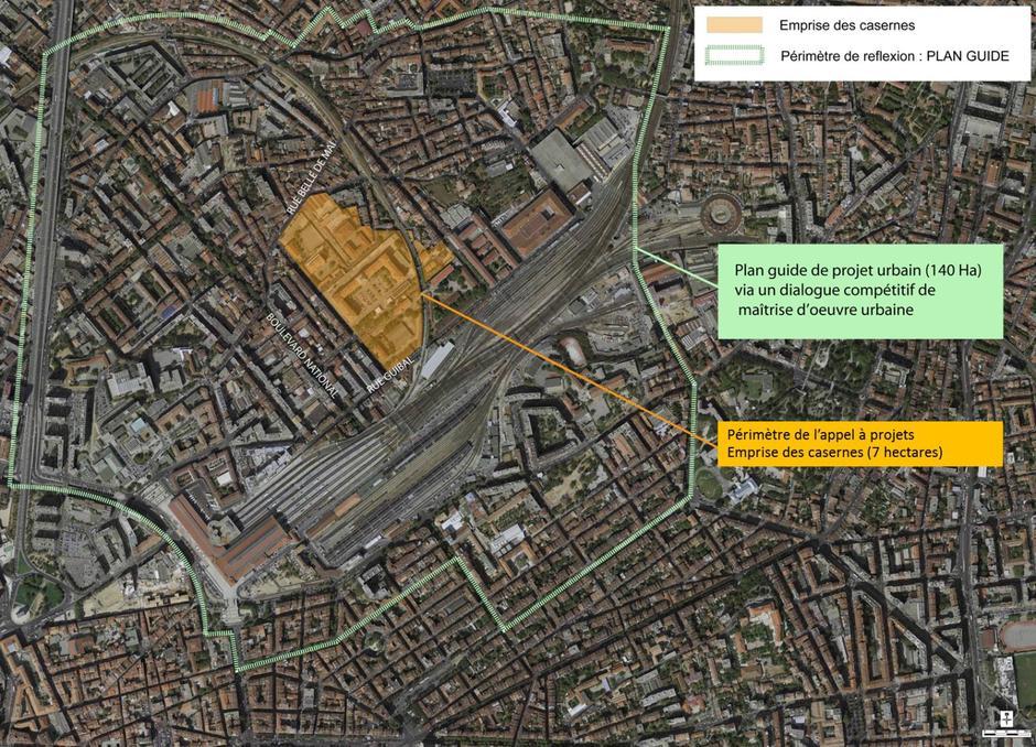 Le périmètre du projet Quartiers Libres