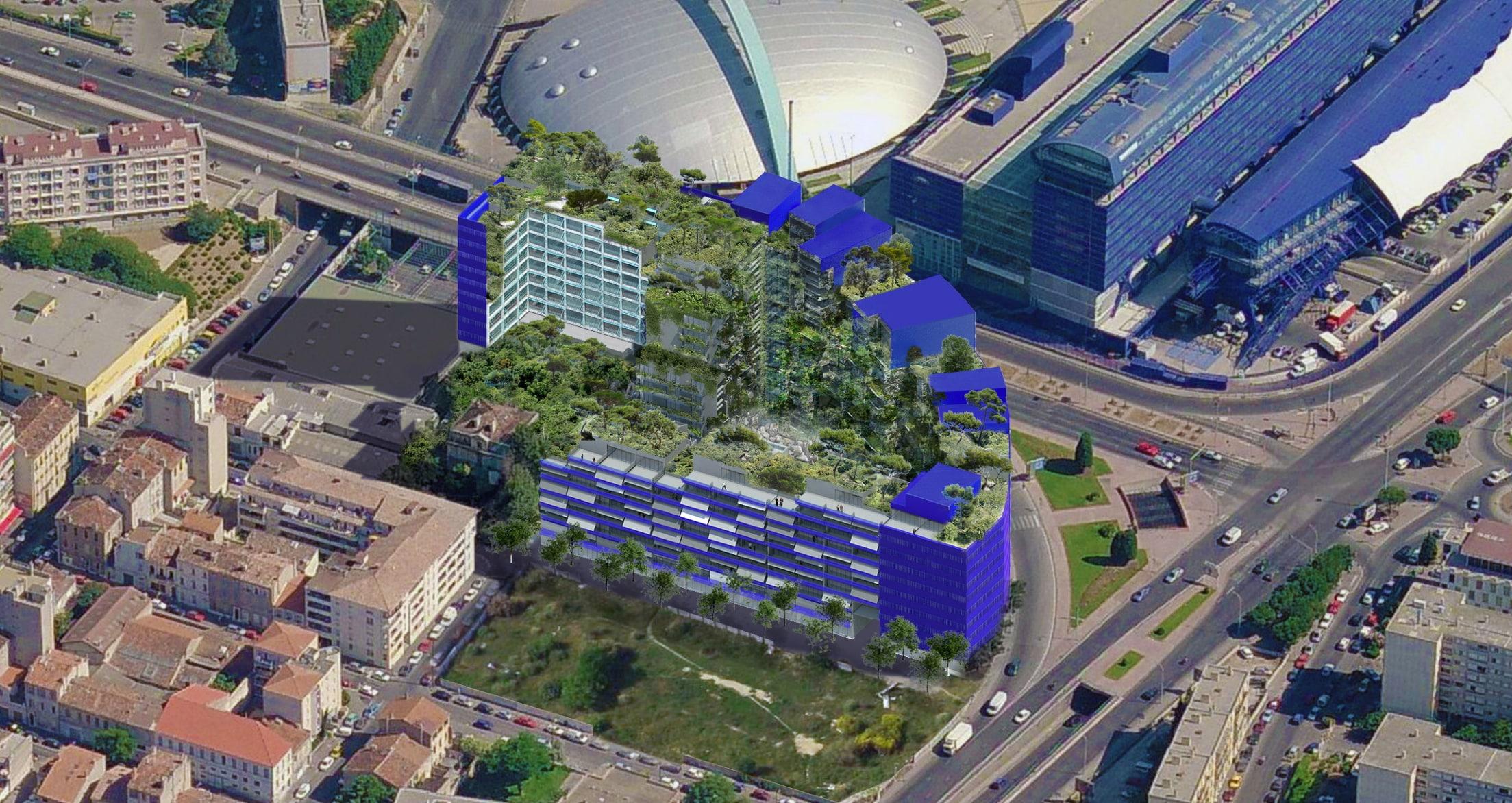 D part imminent pour la calanque bleue le chantier le plus original de marse - Tour de verre marseille ...