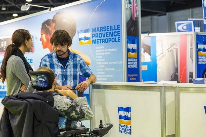 MPM, MPM se mobilise pour l'accès aux transports des PMR demain au Parc Chanot, Made in Marseille
